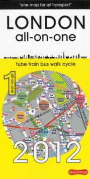 London All-on-One: Tube, Bus, Train, Walking and Sights, Sheet map, folded Book