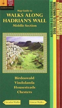 Walks Along Hadrians Wall: Middle Section. Map-Guide, Sheet map, folded Book