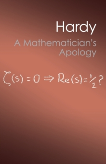 A Mathematician's Apology, Paperback Book