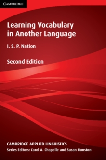 Learning Vocabulary in Another Language, Paperback Book
