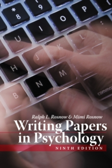 Writing Papers In Psychology, Paperback Book
