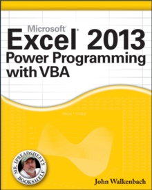 Excel 2013 Power Programming with VBA, Paperback Book