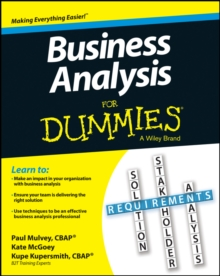 Business Analysis for Dummies, Paperback Book