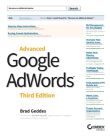 Advanced Google AdWords, Paperback Book