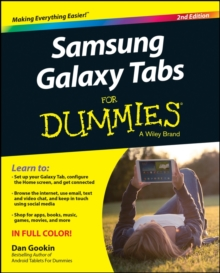 Samsung Galaxy Tabs For Dummies, Paperback Book