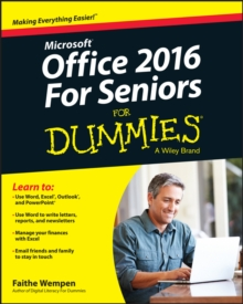 Office 2016 for Seniors For Dummies, Paperback Book