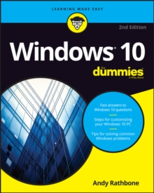 Windows 10 for Dummies, 2nd Edition, Paperback Book