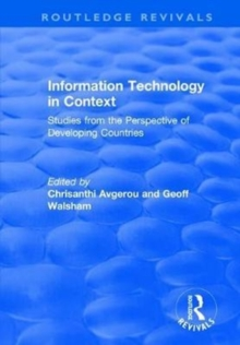 Information Technology in Context: Studies from the Perspective of Developing Countries