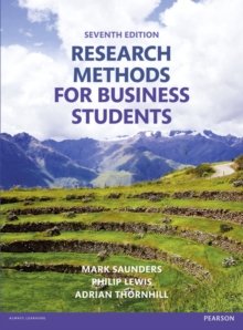 Research Methods for Business Students, Paperback Book