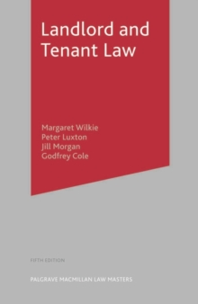 Landlord and Tenant Law, Paperback Book