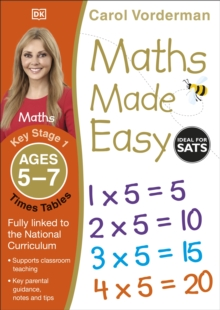 Maths Made Easy Times Tables Ages 5-7 Key Stage 1, Paperback Book