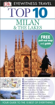 DK Eyewitness Top 10 Travel Guide: Milan & the Lakes, Paperback Book