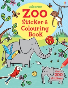 Zoo Sticker and Colouring Book, Paperback Book