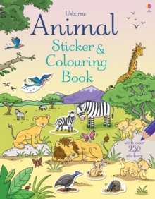 Animal Sticker and Colouring Book, Paperback Book