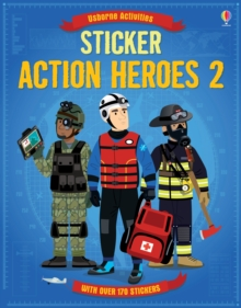 Sticker Action Heroes 2, Paperback Book