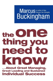 The One Thing You Need To Know, Paperback Book