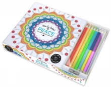 Vive le Colour! Peace (Adult Colouring Book and Pencils) : Colour Therapy Kit, Record book Book