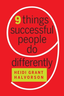 Nine Things Successful People Do Differently, Hardback Book