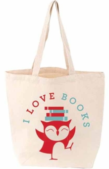I Love Books Bird Tote Bag, Other printed item Book