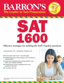 Barron's SAT 1600 : Revised for the New SAT, Paperback Book