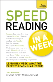 Speed Reading in a Week, Paperback Book