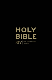 NIV Popular Cross-Reference Black Leather Bible, Hardback Book