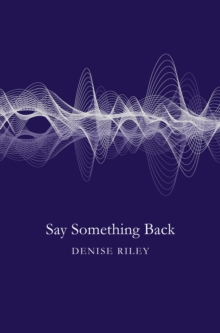 Say Something Back, Paperback Book