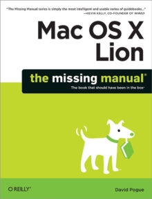 Mac OS X Lion: The Missing Manual, Paperback Book