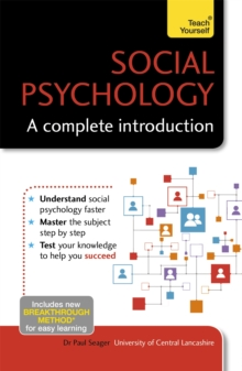 Social Psychology: A Complete Introduction: Teach Yourself, Paperback Book