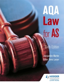 AQA Law for AS, Paperback Book