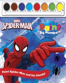 Marvel Spider-Man Paint by Numbers, Paperback Book