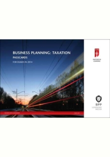 ICAEW Business Planning: Taxation : Passcards, Spiral bound Book
