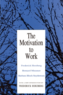 Motivation to Work, Paperback Book