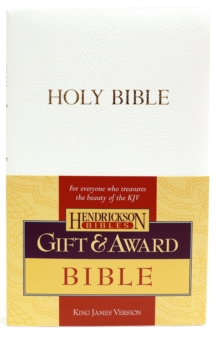 KJV Gift and Award Bible - White, Paperback Book