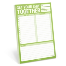 Knock Knock Get Your Shit Together Pad, Other printed item Book