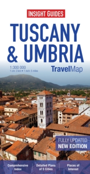 Insight Travel Map: Tuscany & Umbria, Sheet map Book