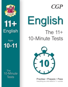 10-Minute Tests for 11+ English Ages 10-11 (for Gl & Other Test Providers), Paperback Book