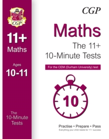 10-Minute Tests for 11+ Maths (Ages 10-11) - CEM Test, Paperback Book