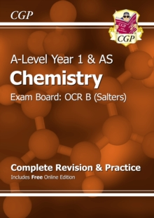 New A-Level Chemistry: OCR B Year 1 & AS Complete Revision & Practice with Online Edition, Paperback Book