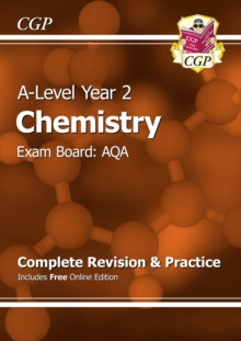 New A-Level Chemistry: AQA Year 2 Complete Revision & Practice with Online Edition, Paperback Book