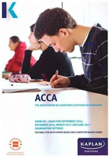 ACCA F8 Audit and Assurance (International and UK) - Exam Kit, Paperback Book