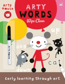 Arty Words Wipe Clean, Paperback Book