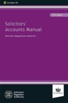 Solicitors' Accounts Manual, Paperback Book