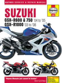 Suzuki GSX-R600/750 Motorcycle Repair Manual