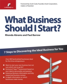 What Business Should I Start? : 7 Steps to Discovering the Ideal Business for You, Paperback Book
