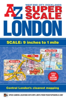 Super Scale London Street Atlas, Paperback Book