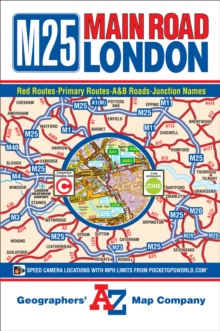 M25 Main Road Map of London, Sheet map, folded Book
