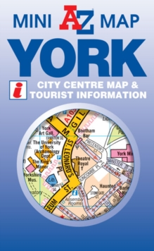 York Mini Map, Sheet map, folded Book
