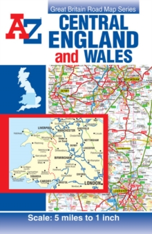 Central England & Wales Road Map, Sheet map, folded Book