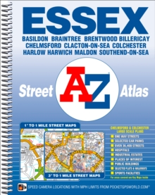 A-Z ESSEX STREET ATLAS, Spiral bound Book